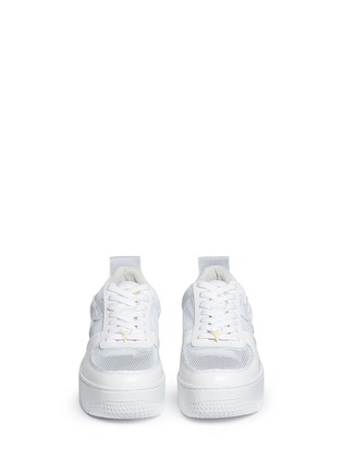 Front View - Click To Enlarge - Windsor Smith - 'Racemesh' logo leather platform sneakers