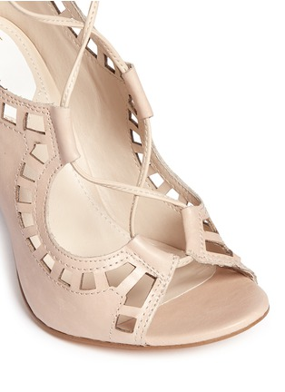 Detail View - Click To Enlarge - Windsor Smith - 'Gillie' perforated leather lace-up sandal boots