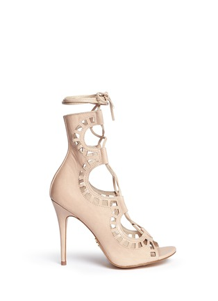 Main View - Click To Enlarge - Windsor Smith - 'Gillie' perforated leather lace-up sandal boots
