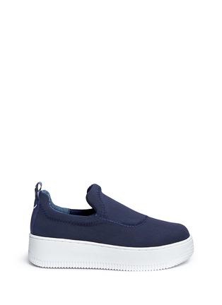 Main View - Click To Enlarge - Windsor Smith - 'Speedy' mesh platform skate slip-ons