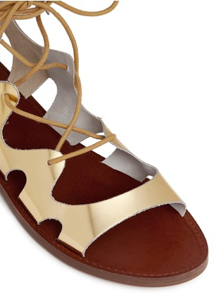 Detail View - Click To Enlarge - Windsor Smith - 'Baby' low gladiator calf leather sandals
