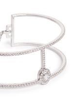 'Amazone Skinny 2 Rangs' diamond 18k white gold bracelet