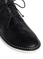 Sancrispa' grainy leather combat boots