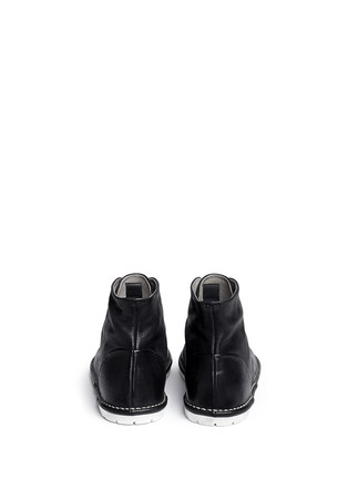 Back View - Click To Enlarge - Marsèll - Sancrispa' grainy leather combat boots