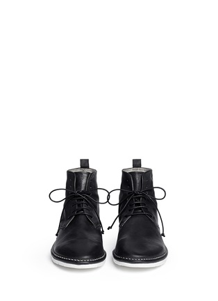 Front View - Click To Enlarge - Marsèll - Sancrispa' grainy leather combat boots