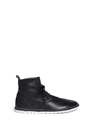 Main View - Click To Enlarge - Marsèll - Sancrispa' grainy leather combat boots