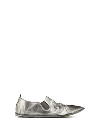 MARSÈLL-金属色盖头设计便鞋