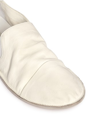 Detail View - Click To Enlarge - Marsèll - 'Strasacco' toe cap leather slip-ons