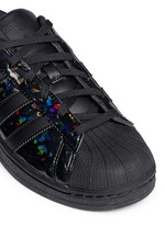 'Superstar' holographic leather sneakers