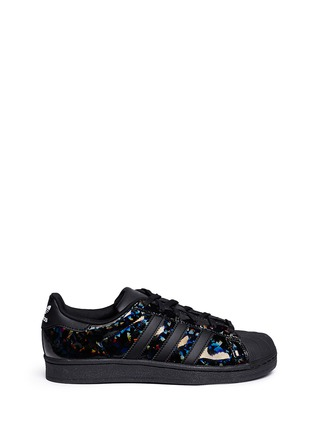 Main View - Click To Enlarge - Adidas - 'Superstar' holographic leather sneakers