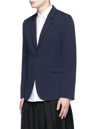 Front View - Click To Enlarge - McQ Alexander McQueen - 'Curtis' notch lapel cotton blazer