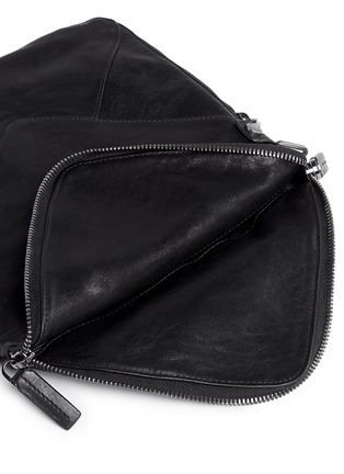 Detail View - Click To Enlarge - BOYY - 'Mini Slash' calf hair flap leather shoulder bag