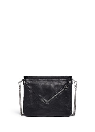 Back View - Click To Enlarge - BOYY - 'Mini Slash' calf hair flap leather shoulder bag