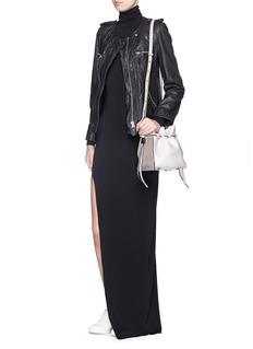 BOYY'Mini Lazar' snakeskin strap leather bucket bag