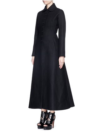 Figure View - Click To Enlarge - Alaïa - Split side wool felt long coat