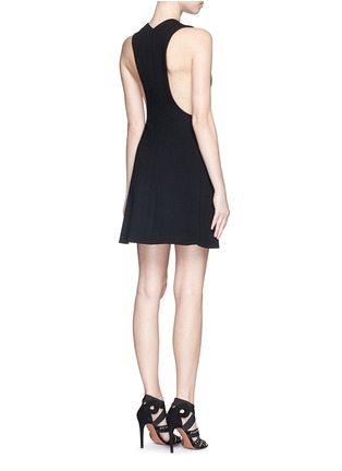 Back View - Click To Enlarge - Alaïa - Plunge V-neck zip jersey knit dress