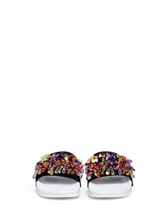 Figure View - Click To Enlarge - MSGM - Jewelled mesh slide sandals
