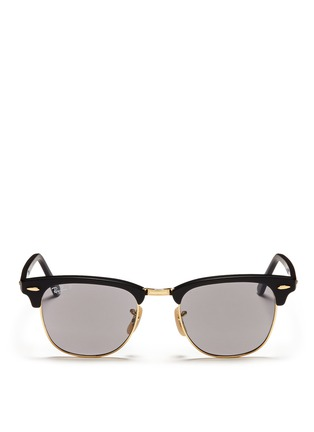 Main View - Click To Enlarge - Ray-Ban - Clubmaster plastic brow bar sunglasses