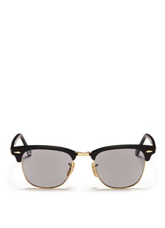 RAY-BAN Clubmaster plastic brow bar sunglasses