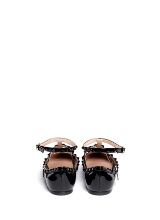 Back View - Click To Enlarge - Valentino - Rockstud caged patent leather flats