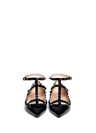 Figure View - Click To Enlarge - Valentino - Rockstud caged patent leather flats