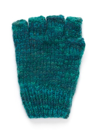 Back View - Click To Enlarge - THE ELDER STATESMAN - Cashmere fingerless gloves