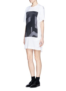 HELMUT LANG 'Pact' print jersey T-shirt dress