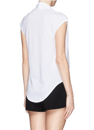 Back View - Click To Enlarge - Helmut Lang - Cowl neck jersey T-shirt