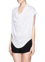 Cowl neck jersey T-shirt