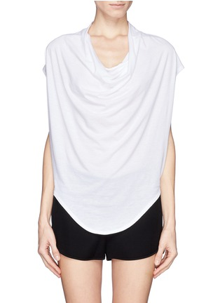 Main View - Click To Enlarge - Helmut Lang - Cowl neck jersey T-shirt
