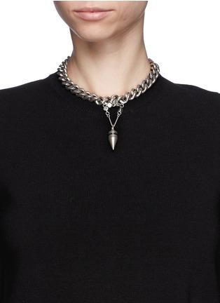 Figure View - Click To Enlarge - Ela Stone - Saskia bullet spike choker necklace