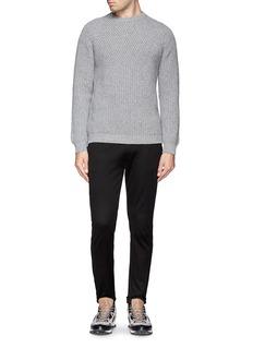 LANVINDiagonal rib knit sweater