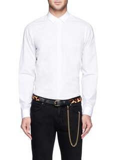 OVADIA AND SONS Leopard print pony hair chain leather belt