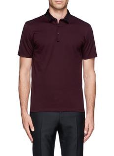 LANVINGrosgrain collar polo shirt