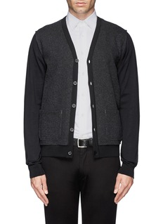 LANVINFelt front merino wool sweater