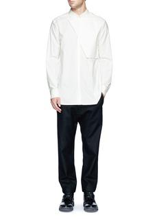 HELMUT LANG'Storm Flap' twill shirt