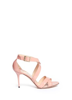 JIMMY CHOO'Louise' patent leather strappy sandals