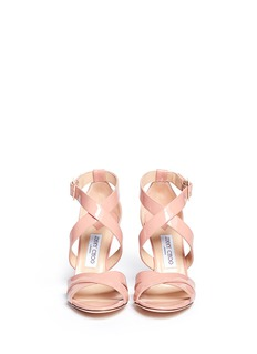 JIMMY CHOO 'Louise' patent leather strappy sandals