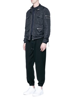 Feng Chen Wang Drawstring sleeve field jacket