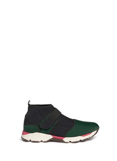 Marni Single strap scuba jersey sneakers