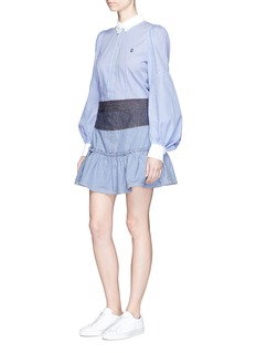 Marc JacobsBishop sleeve stripe cotton shirt