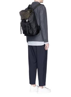 MarniColourblock tech fabric backpack