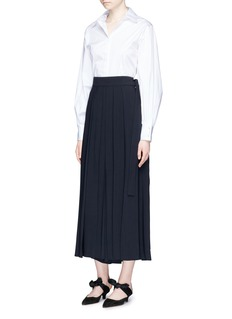 The Row 'Skannt' pleated crepe pants