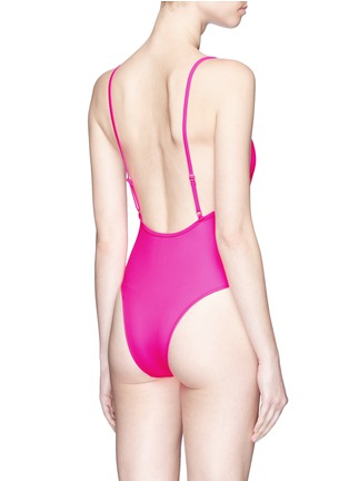 Back View - Click To Enlarge - Solid & Striped - 'Chelsea' neon one-piece swimsuit