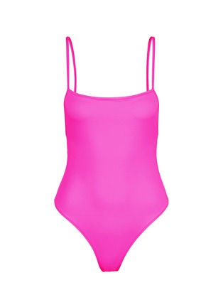 Main View - Click To Enlarge - Solid & Striped - 'Chelsea' neon one-piece swimsuit