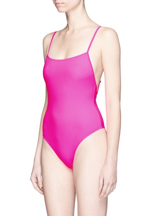 Figure View - Click To Enlarge - Solid & Striped - 'Chelsea' neon one-piece swimsuit