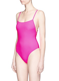 Solid & Striped 'Chelsea' neon one-piece swimsuit