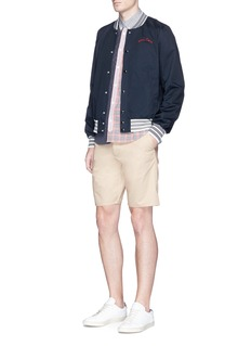 Maison Kitsuné'Jay' cotton twill chino shorts
