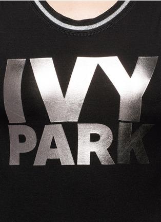 Detail View - Click To Enlarge - Ivy Park - Metallic logo print bodysuit
