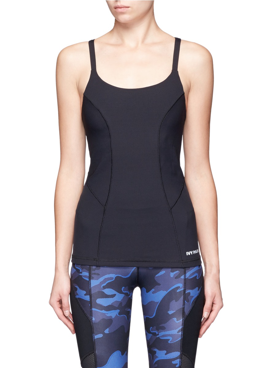 Cross back ribbed tank top by Ivy Park
